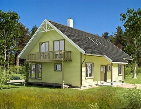 Timber frame home plan - Gauja 158