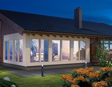 Timber frame home plan - Jurmala 170