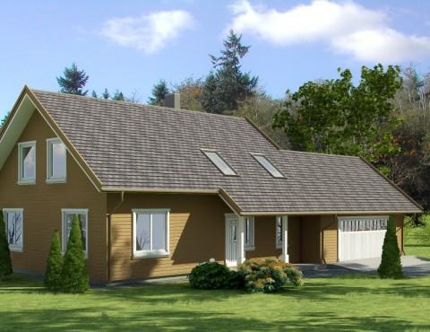 Timber frame home plan - Anita 14