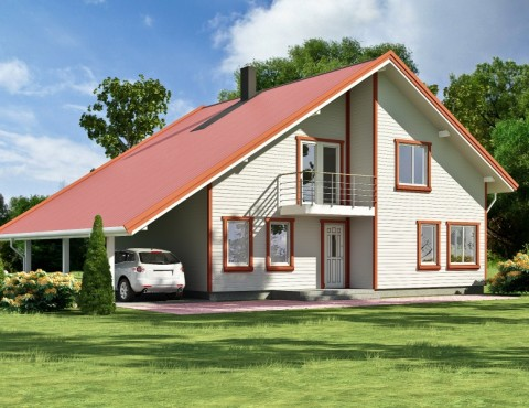Timber frame home plan - Anita 218