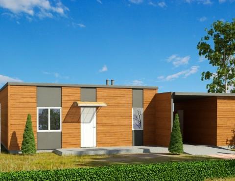 Timber frame home plan - Modern 98