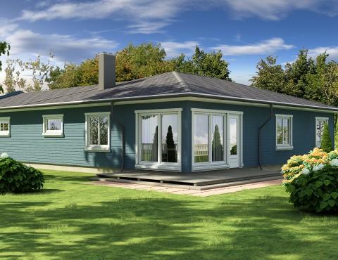 Timber frame home plan - Anita 150