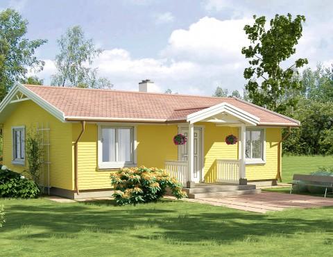 Timber frame home plan - Anita 62
